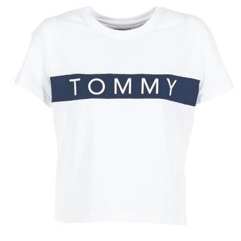Clothing Women short-sleeved t-shirts Hilfiger Denim THDW CN T-SHIRT S/S 26 White / MARINE