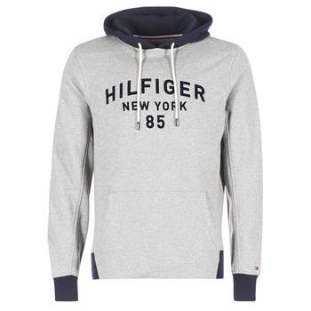 Clothing Men sweatpants Tommy Hilfiger ALAN HDD 1/2 ZIP L/S VF Grey / MARINE