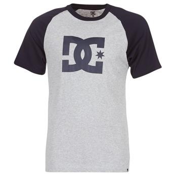 Clothing Men short-sleeved t-shirts DC Shoes STAR RAGLAN SS Black / Grey