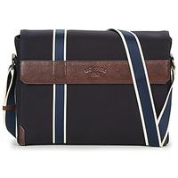 Bags Men Messenger bags Le Tanneur TOM Blue / Brown