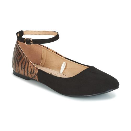 Shoes Women Flat shoes Moony Mood GLIMY Black