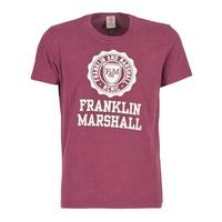 Clothing Men short-sleeved t-shirts Franklin & Marshall GRAVI Bordeaux