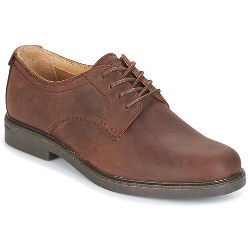 Shoes Men Derby Shoes Sebago TURNER LACE UP WATERPROOF Dark / Brown