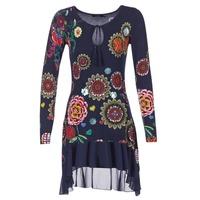 Clothing Women Short Dresses Desigual GRUFI Blue