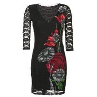 Clothing Women Short Dresses Desigual GRAFE Black