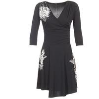 Clothing Women Short Dresses Desigual GRAFU Black
