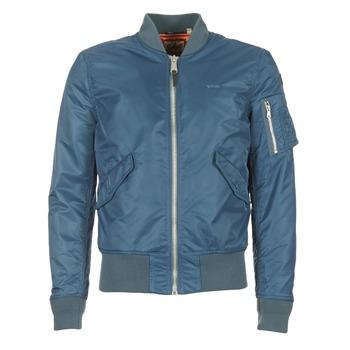 Clothing Men Jackets Schott BOMBER BY SCHOTT Blue
