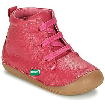 Shoes Girl Mid boots Kickers SONICE Fuschia