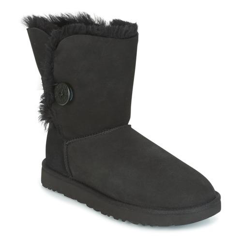 Shoes Women Mid boots UGG Australia BAILEY BUTTON II Black