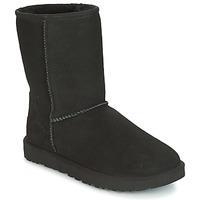 Shoes Women Mid boots UGG Australia CLASSIC SHORT II Black