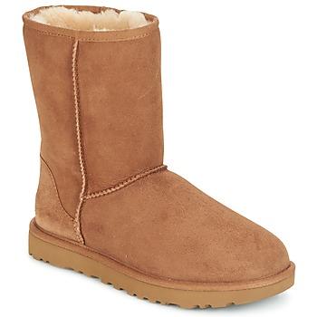Shoes Women Mid boots UGG Australia CLASSIC SHORT II Camel