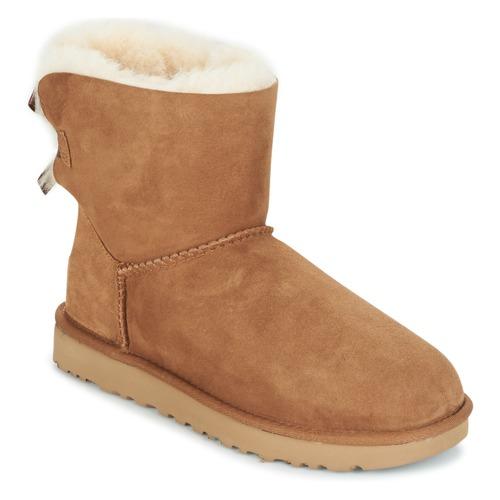 Shoes Women Mid boots UGG Australia MINI BAILEY BOW II Camel