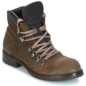 Shoes Men Mid boots Moma MARTENS CORDA/ COSNA TESTA DI MORO KAKI / Brown