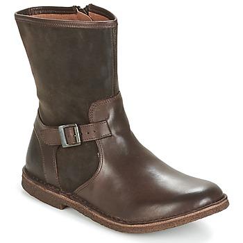 Shoes Women Mid boots Kickers CREEK Brown / Dark
