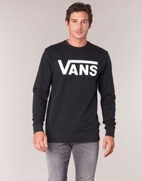 Clothing Men Sweaters Vans VANS CLASSIC CREW Black