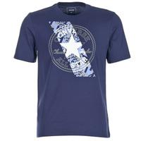 Clothing Men short-sleeved t-shirts Converse CHUCKPATCH CONTRAST SLASH TEE Marine
