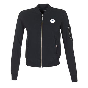 Clothing Women Jackets / Blazers Converse CORE MA-1 BOMBER Black