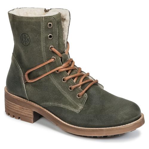 Shoes Girl Mid boots Bullboxer CHEWIM Kaki
