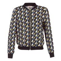 Clothing Women Jackets Moony Mood HARIO Black / Blue / Yellow