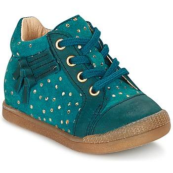 Shoes Girl Hi top trainers Babybotte FALSIFI TURQUOISE / Gold