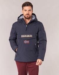 Clothing Men Parkas Napapijri RAINFOREST POCKET Marine
