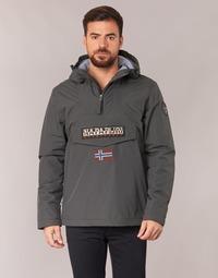 Clothing Men Parkas Napapijri RAINFOREST Grey