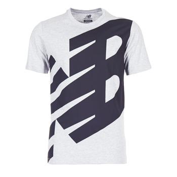 Clothing Men short-sleeved t-shirts New Balance NB ESSENTIEL T Grey