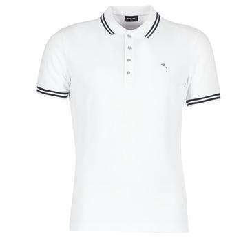 Clothing Men short-sleeved polo shirts Diesel RANDY White