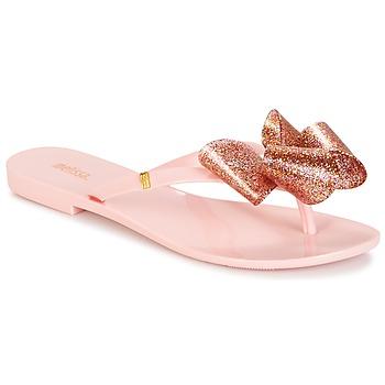 Shoes Women Flip flops Melissa HARMONIC TARTAN AD Pink
