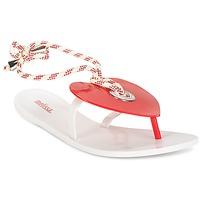 Shoes Women Flip flops Melissa BLISS II SP AD White / Red