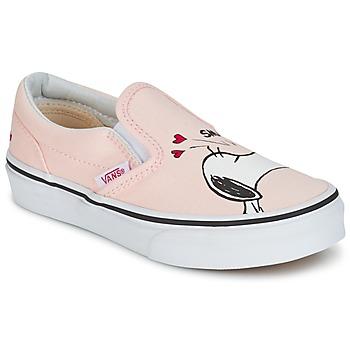 Shoes Girl Slip ons Vans TD CLASSIC SLIP-ON SNOOPY Pink