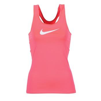 Clothing Women Tops / Sleeveless T-shirts Nike NIKE PRO COOL TANK Pink / White