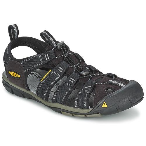 Shoes Men Outdoor sandals Keen MEN CLEARWATER CNX Black / Grey