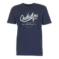 Clothing Men short-sleeved t-shirts Quiksilver CLATESEATALES Marine