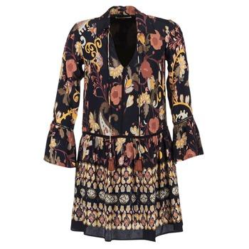 Clothing Women Short Dresses Derhy DEGUSTATION Black / Multicoloured