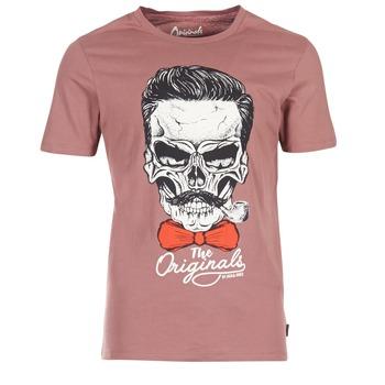Clothing Men short-sleeved t-shirts Jack & Jones CRIPTIC ORIGINALS Pink