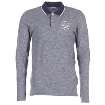 Clothing Men long-sleeved polo shirts Jack & Jones CYMBAL ORIGINALS Grey