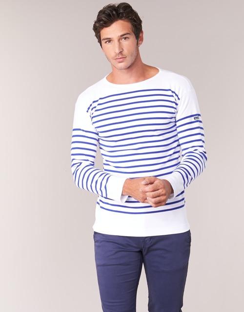 Clothing Men Long sleeved tee-shirts Armor Lux DISJON White / Blue