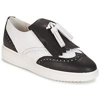 Shoes Women Loafers Geox D THYMAR C - NAPPA White /  BLACK