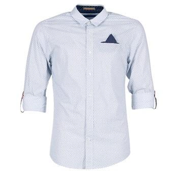 Clothing Men long-sleeved shirts Scotch & Soda DARLU White / Blue