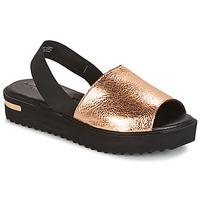 Shoes Women Sandals Tamaris  Pink / MET /  BLACK