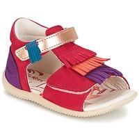 Shoes Girl Sandals Kickers BIHILANA Fuschia / Orange / Purple