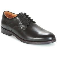 Shoes Men Derby Shoes Clarks Black Leather Black