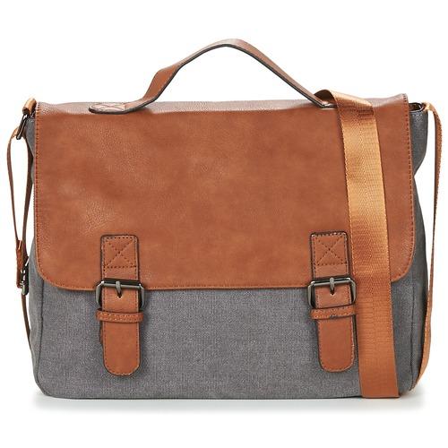 Bags Men Messenger bags Casual Attitude HENVI Grey / Brown
