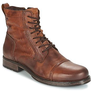 Shoes Men Mid boots Jack & Jones RISSOL Brown