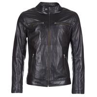 Clothing Men Leather jackets / Imitation leather Casual Attitude HEXO Black