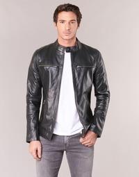Clothing Men Leather jackets / Imitation leather Casual Attitude IHEXO Black