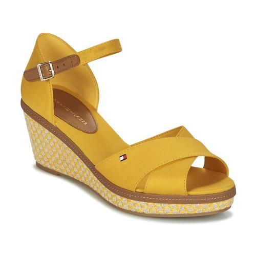Shoes Women Sandals Tommy Hilfiger ICONIC ELBA SANDAL BASIC Yellow