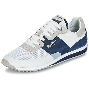 Shoes Men Low top trainers Pepe jeans GARRET SAILOR White / Blue