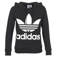 Clothing Women sweaters adidas Originals TREFOIL HOODIE Black